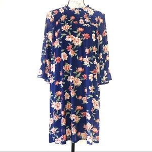 Siren Lily Floral Lined Tunic Boho Festival Dress
